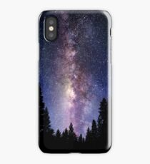 Starry Night Forest - Galaxy Stars iPhone Case/Skin