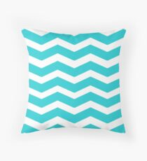 Chevron Teal Throw Pillow