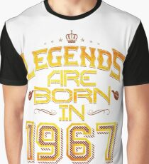 Legends are born in 1967 50th years old Graphic T-Shirt