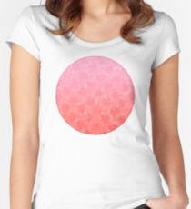 Ombre Pink Women's Fitted Scoop T-Shirt