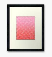 Ombre Pink Framed Print