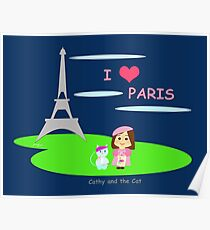 Cathy and the Cat in Paris Poster