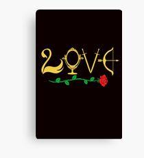 Love Fairytale Lettering Canvas Print
