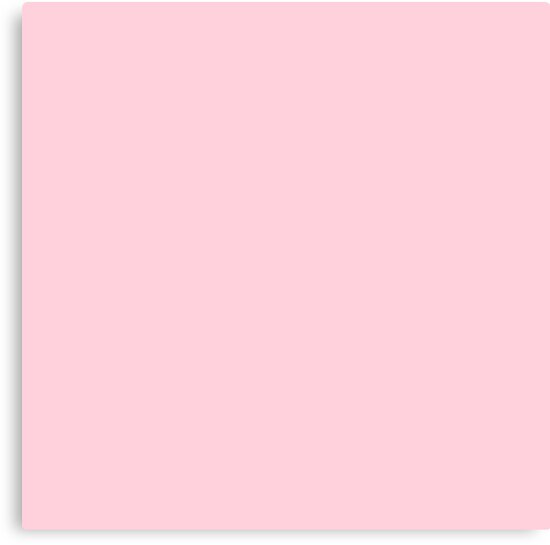 """Plain Baby Pink Wallpaper: """"Light Soft Pastel Pink Solid Color"""" Canvas Print By"""