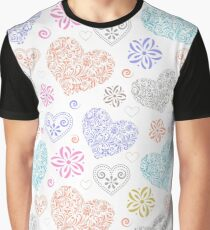 abstract colorful hearts Graphic T-Shirt