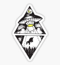 unicorn abducted Sticker