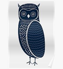 Cute Tribal Woodland Owl Poster