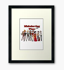 Misbehaving time Framed Print