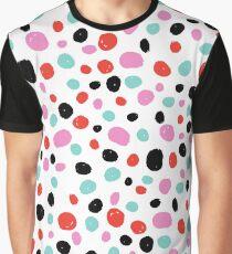 Polka dots pattern, Pink, Red, Black, Blue, Dots, Pattern, Fashion print, Funny art, Modern art, Wall art, Print, Minimalistic, Modern, Humor Graphic T-Shirt