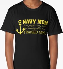 Navy Mom - Raised my Hero - Proud Parent of Armed Services Child Long T-Shirt