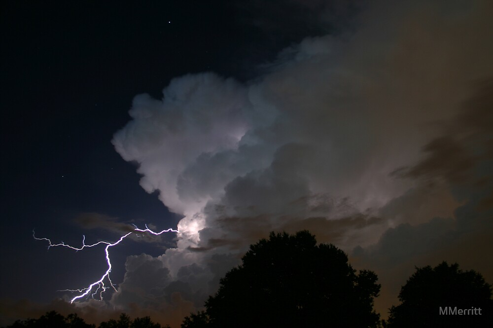 Late Evening Thunderstorm by MMerritt