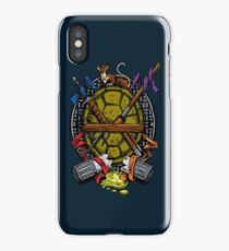 Turtle Family Crest - Full Color iPhone Case