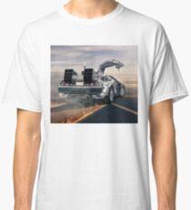 delorean time machine oil painting fan art Classic T-Shirt