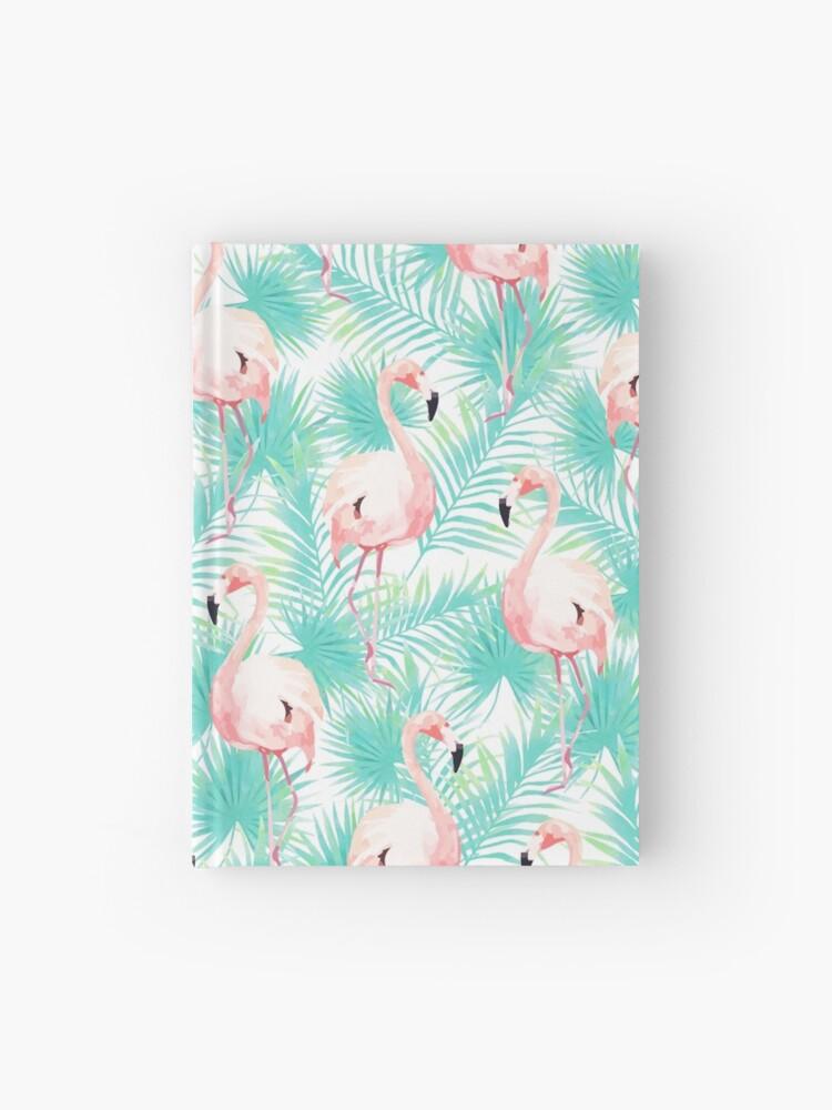 Flamingo Patrón De Flamencos Imprimir Tropical Hojas De Palmera Pájaro Patrón De Arte Divertido Arte Moderno Arte De La Pared Imprimir