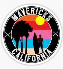 Surfing Mavericks Maverick's California Surf Surfboard Waves Half Moon Bay 3 Sticker