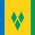 St Vincent and the Grenadines Flag Products by Mark Podger