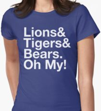 THE WIZARD OF OZ Lions and Tigers and Bears Oh My! Ampersand Womens Fitted T-Shirt