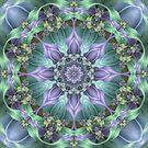 Ribbon Mandala in Blue and Purple by Kelly Dietrich
