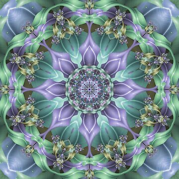 Ribbon Mandala in Blue and Purple by kellydietrich