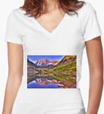 Aspen View Women's Fitted V-Neck T-Shirt