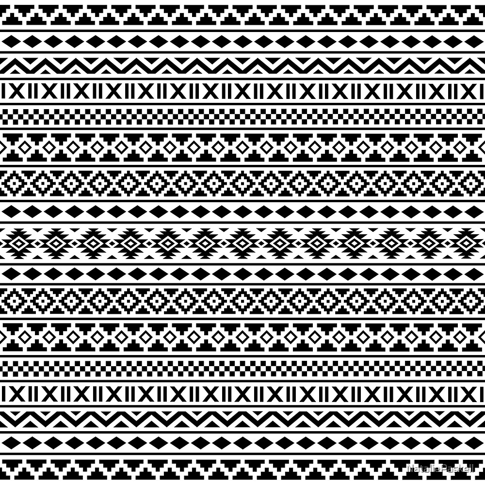 "aztec essence pattern black on white""nataliepaskell 