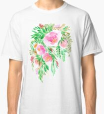 Flowers in Watercolor Classic T-Shirt