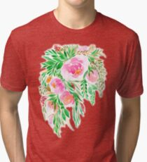 Flowers in Watercolor Tri-blend T-Shirt