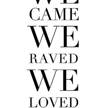 We came we raved we loved by mkcvte