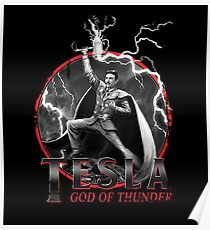 Tesla God Of Thunder Poster
