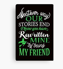 Wicked Musical Quote. Canvas Print