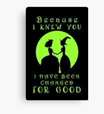 Because I Knew You... Canvas Print