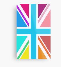Union Jack/Flag Design Multicoloured Metal Print