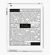 Quotes from Firefly - Captain Malcolm Reynolds (1 of 2) iPad Case/Skin