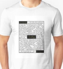 Quotes from Firefly - Captain Malcolm Reynolds (1 of 2) Unisex T-Shirt