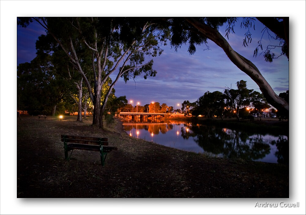 wimmera river bridge by Andrew Cowell