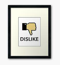 Dislike (Thumb Down) Framed Print
