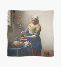 Johannes Vermeer - The Milkmaid (Around 1660) Scarf