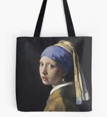 Johannes Vermeer - The Girl With A Pearl Earring Tote Bag