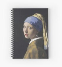 Johannes Vermeer - The Girl With A Pearl Earring Spiral Notebook