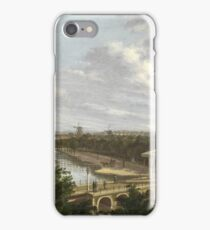 Johannes Jelgerhuis - The Amsterdam Outer Canal Near The Leidsepoort Seen From The Theatre, 1813 iPhone Case/Skin