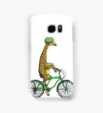 Cycling Giraffe with Watermelon Helmet Samsung Galaxy Case/Skin