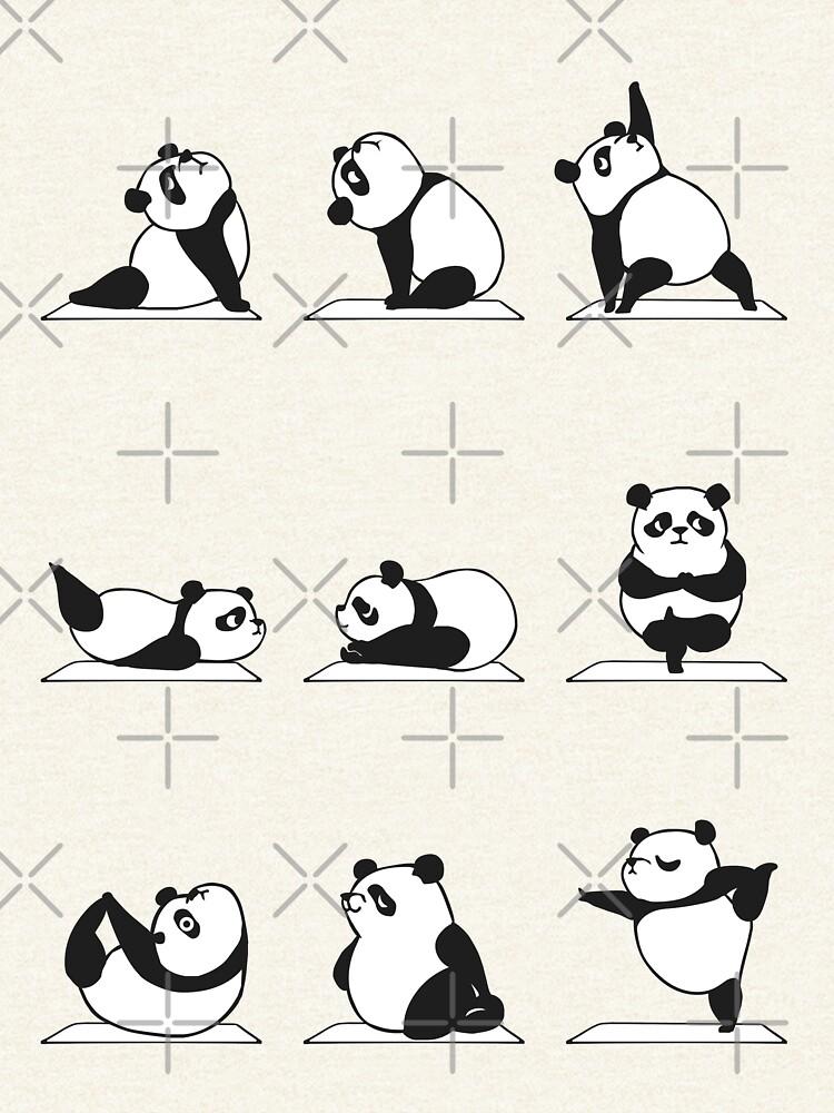 Panda Yoga by Huebucket