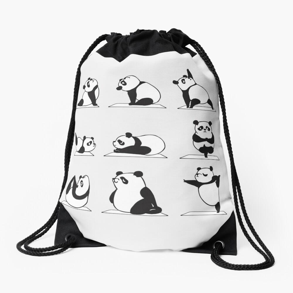 Panda Yoga Drawstring Bag