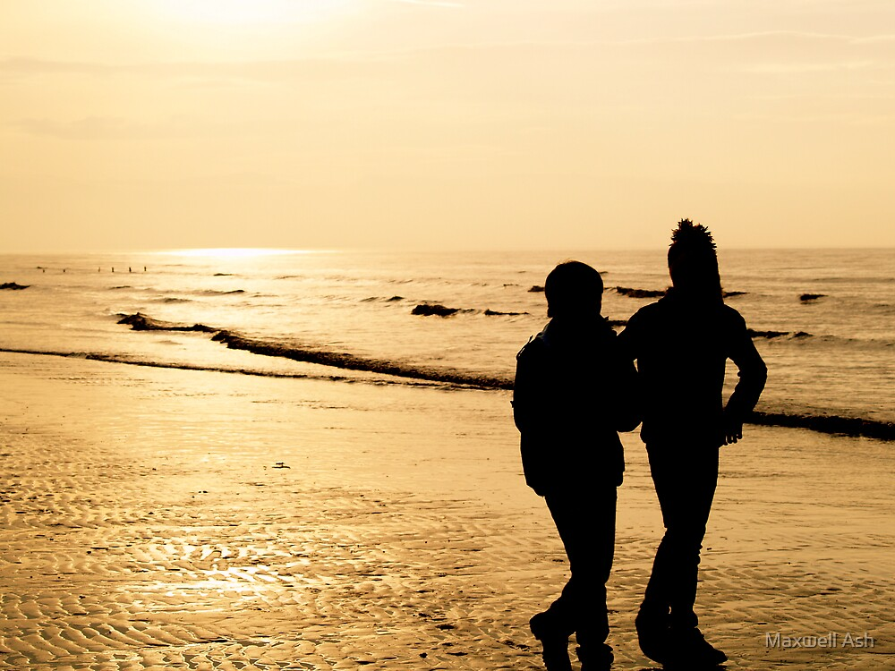 Silhouettes at Brean by Maxwell Ash