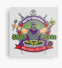 TMNT Master Shredder's Soup House Metal Print