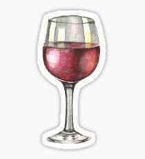Red Wine Sticker