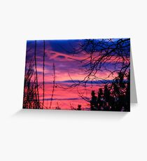 Pink Sunset View Photograph Greeting Card