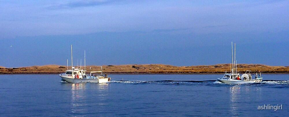 Fishing boats, Outer Banks, NC by Amanda Hayes