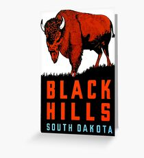 Black Hills South Dakota Vintage Travel Decal Greeting Card