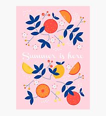 Summer is here- soft pattern Photographic Print